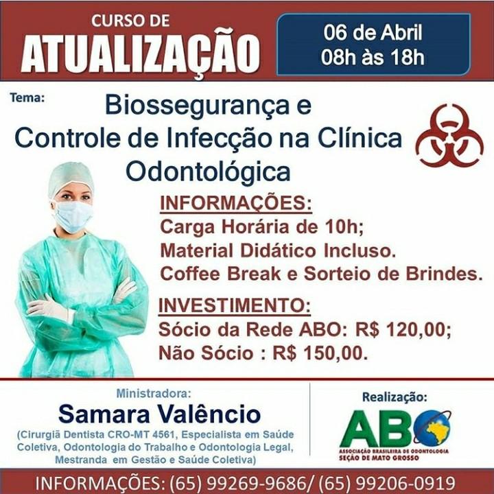 Curso de Atualização: Biossegurança e controle de Infecção na Clínica Odontológica