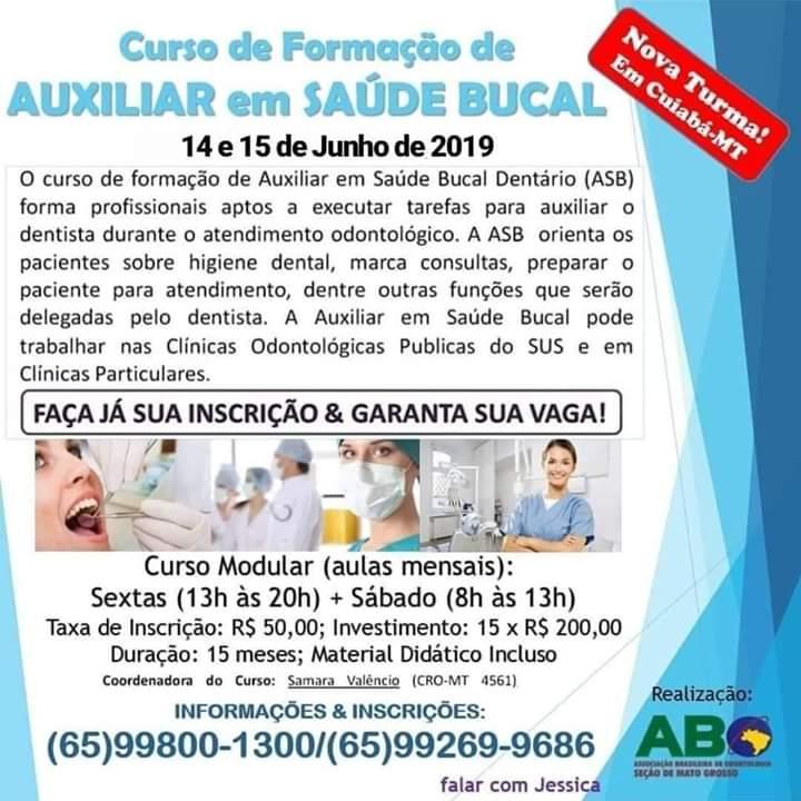 Curso de Formação em Auxiliar em Saúde Bucal – Turma 2019/2